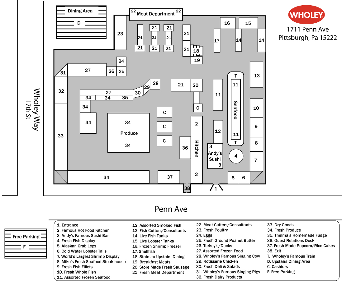store map. store map pittsburgh  robert wholey company