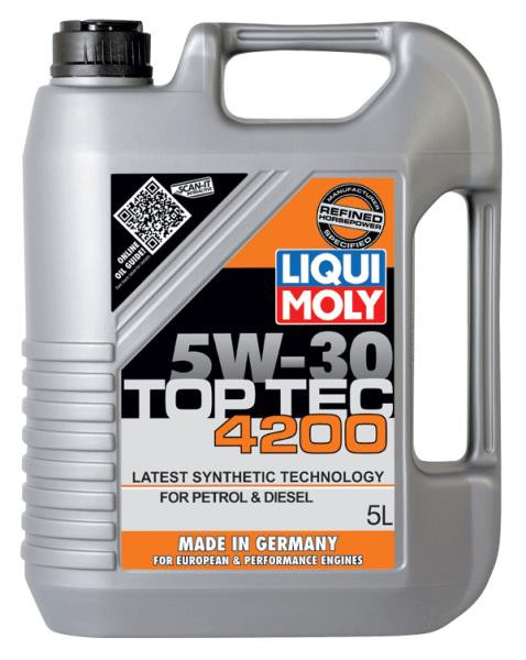 liqui moly top tec 4200 5w30 5 liter kermatdi. Black Bedroom Furniture Sets. Home Design Ideas