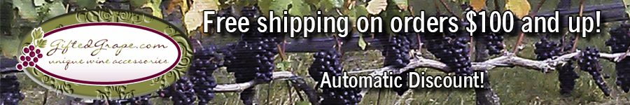 Freed shipping on orders over $100 at GiftedGrape.com