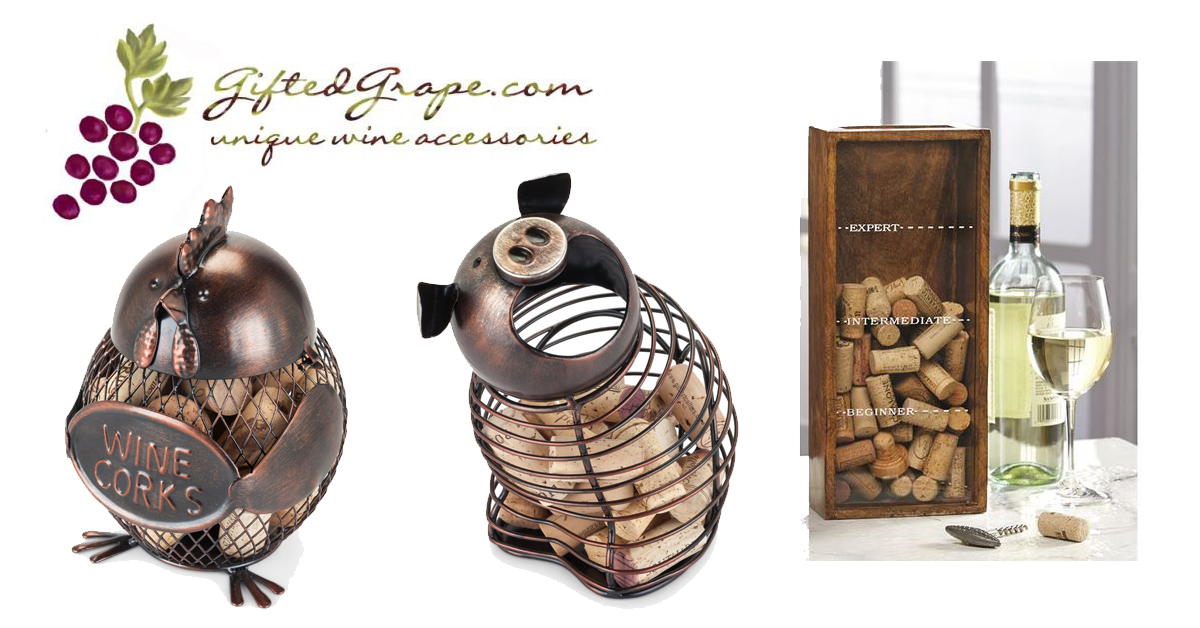 Cork Holder Cages at GiftedGrape.com