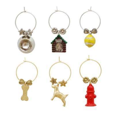 A Dog's Life Wine Glass CHarms
