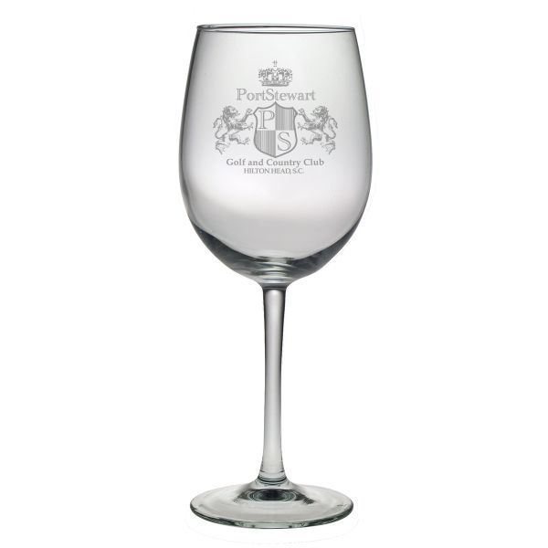 Custom etched bordeaux wine glass