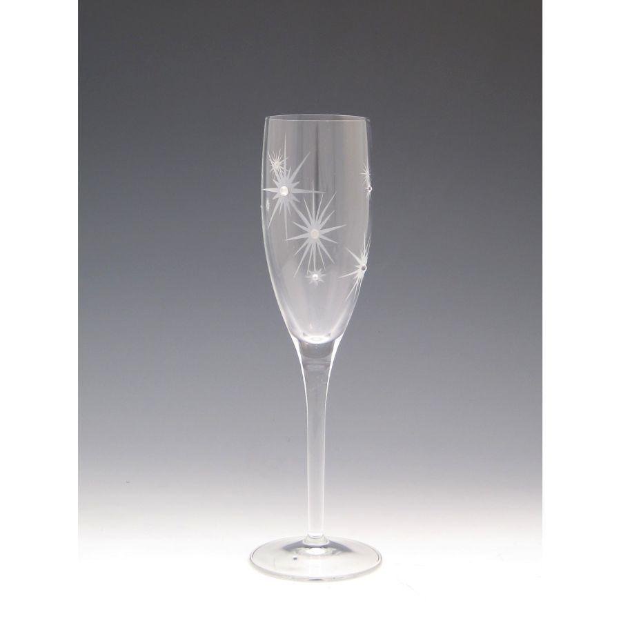 Twinkle Champagne glass with Swarovski crystals