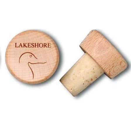 Wood Wine Bottle Stopper with Logo Imprint