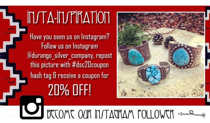 Durango Silver Company  Vintage Jewelry Instagram promo