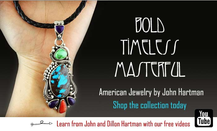 John Hartman Jewelry with Turquoise and fine gems