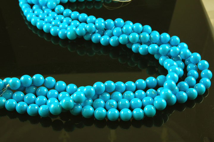 Sleeping Beauty Turquoise Beads from the Sleeping Beauty Turquoise mine