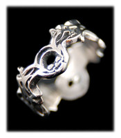 Tattoo Silver Ring Band
