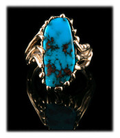 Gold Bisbee Turquoise Ring for Women