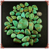 Emerald Valley Turquoise Cabochon Lot