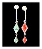 Silver Hoop Earrings with Dangles