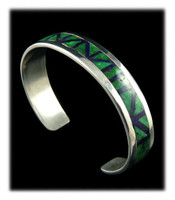 Sugilite And Lime Turquoise Inlay Bracelet