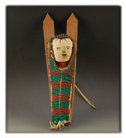 Crow Indian Miniature Cradle Board Doll