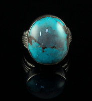 Natural Bisbee Turquoise Ring