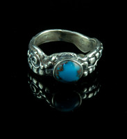 Egyptian Turquoise Petroglyth Ring for Women