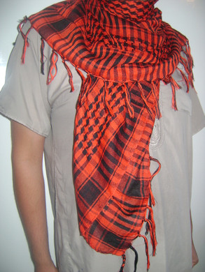 Red with Tassels Shemagh Scarf