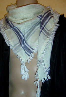 Cream with Tassels Shemagh Scarf