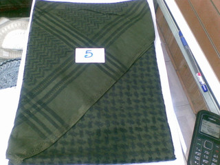 Army Green and Black Shemagh Scarf