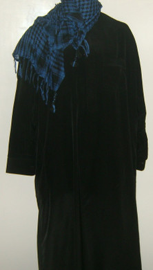 Dark Blue Tassels Shemagh Scarf
