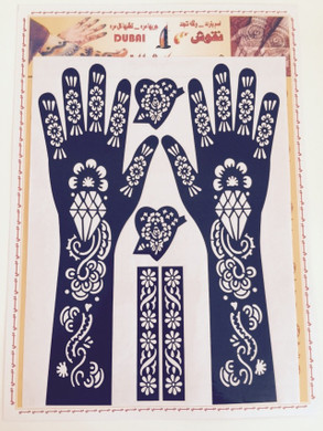 2 HANDS SHEETS HENNA STICKERS