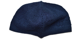 Blue Kufi Skull Cap Prayer Turkish Hat Islamic Muslim Beanie Eid Head