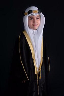 KIDS CHILDRENS BLACK BISHT CLOAK ARAB DRESS THOBE ISLAM MENS CHILDS EID MASHLAH