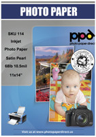Inkjet Premium Photo Paper Satin 68lb. 255gsm 10.5mil 11 x 14""