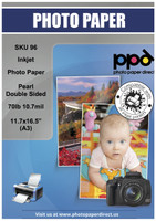 "Inkjet Premium Photo Paper Pearl Double Sided 70lb. 290gsm 10.7mil 11.7 x 16.5"" (A3)"