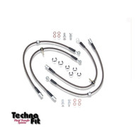 Techna-Fit Stainless Braided Brake Line Kit
