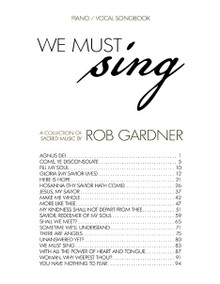 We Must Sing - Downloadable Songbook