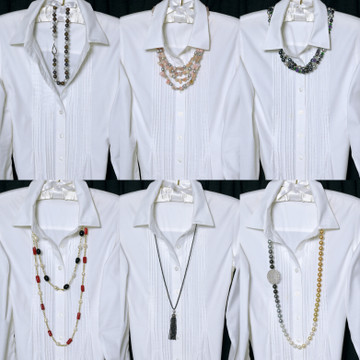 Stylin a Classic White Blouse with NAUGHTON BRAUN Pearls