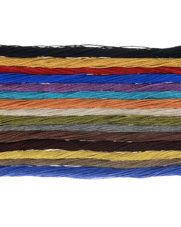 Danxia Silk necklace, necklaces  composed of 75 strands of silk, available in 15 different colors