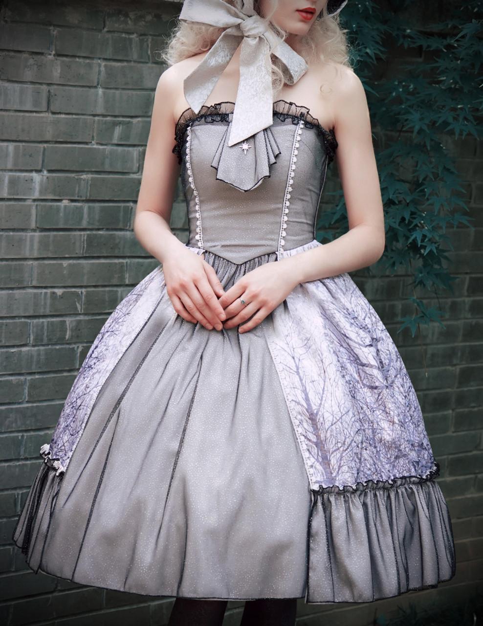 Vintage Retro Womens Midi Dress Corset Strapless Jacquard ...