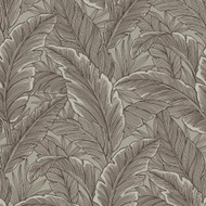 UK10018 - Peartree Glitter Leaf Taupe Wallpaper