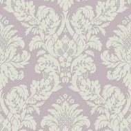 UK10481 - Peartree Glitter Damask Lilac Wallpaper