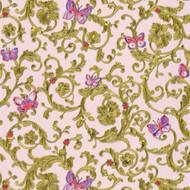 343254 - Versace Butterflies Bees Ladybirds Rose Red AS Creation Wallpaper