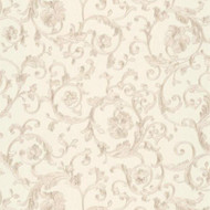 343263 - Versace Antique Vintage Florals White Grey AS Creation Wallpaper