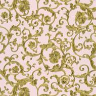 343264 - Versace Antique Vintage Florals Rose Gold AS Creation Wallpaper