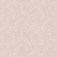 935835 - Versace Swirling Florals Flowers Silver AS Creation Wallpaper