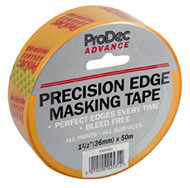 "1.5"" (36mm) Prodec Advance Low Tack Precision Edge Masking Tape 50mtr Roll"