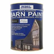 5lt Bedec Acrylic Exterior Barn Paint Matt Black For All External Wood
