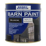 2.5lt Bedec Acrylic Exterior Barn Paint Matt Black For All External Wood