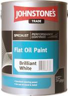 Johnstones 5Ltr Flat Oil Paint White 301824