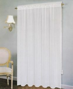 "Voile Windows Curtains / Drapes Panel 58"" x 90"" - White"
