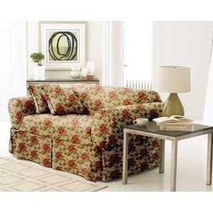"3pc.""Goblen"" Sofa Loveseat Chair Cover Slipcover-Floral"