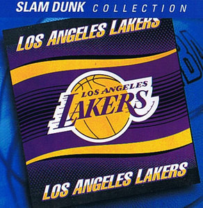 NBA Los Angeles Lakers BLANKET throw Raschel TWIN SIZE