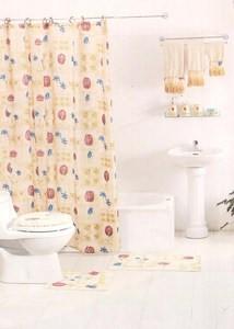 12pc Bath / Shower Accessories Set & 3pc Towels