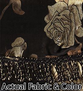 BLACKOUT Curtains/Drapes attached Valance Liner - BLACK