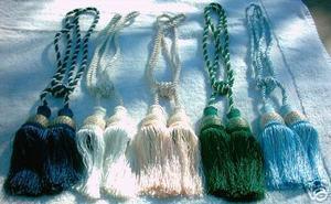 2 (TWO) X Handmade Italian drapery tassel\tieback victorian GREEN