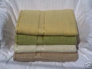 4 pc 100% COTTON SOLID BATH TOWELS SET new patent towel 491 1158